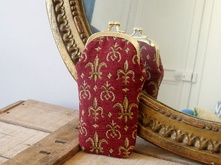 Royal Tapisserie lilies flowers glasses case (available also in handbag, pencil case, cushion) made in france