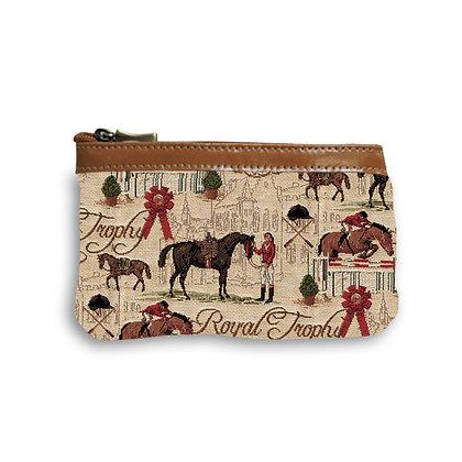 trousse cheval trousse chevaux pochette cheval fabriqué en france sac équitation royal tapisserie