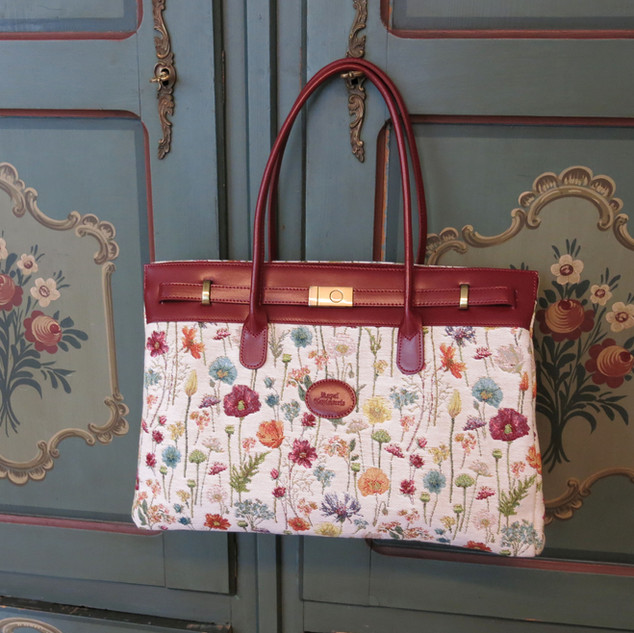 Grand sac porté épaule Fleurs des Champs Royal Tapisserie