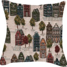 """Coussin """" Vie de Quartier """" - Royal Tapisserie cushion tapestry"""