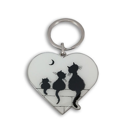 Les chats de dubout porte clé le trio porte-monnaie key ring pencil case bag handbag key rings cats
