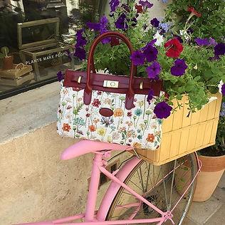 """Sac à main motif """"Fleurs des Champs"""" (ref 8967.74) Royal Tapisserie / Handbag tapestry"""