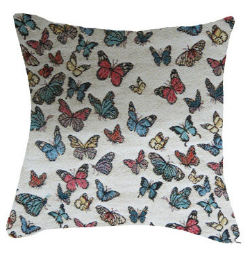 coussin tapisserie papillons france jacquard royal tapisserie tapestry cushion french butterflies butterfly royal tapestry