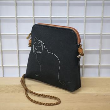"""Quibe Petit sac cordon """"Chat noir"""" Référence 8971CN"""