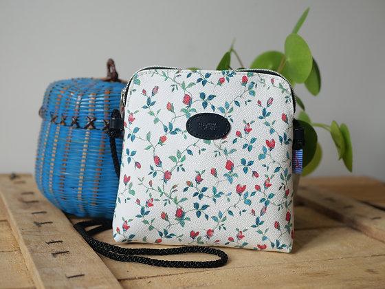 sac fabriqué en france motif petites fleurs royal tapisserie
