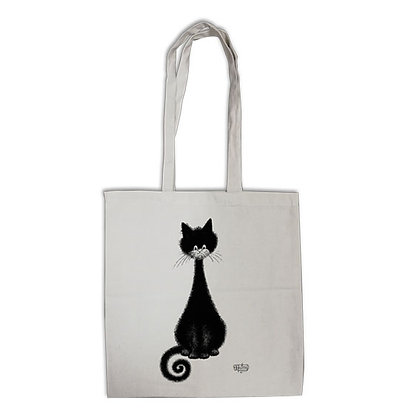 Les chats de dubout tote bag eco bag chat spirale pochette trousse sac main trio pencil case bag handbag cats debout chat