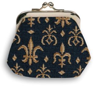 """Porte-monnaie rétro """"Fleurs de Lys""""  - Référence Royal Tapisserie 402"""