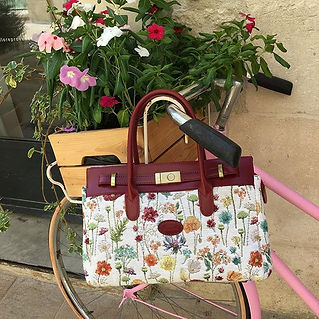 Sac shopping sac à main Royal Tapisserie pencil case tote bag handbag tapestry royal handbag tapestry fleurs des champs flowers france
