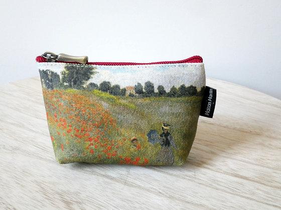 419M2 porte-monnaie Les Coquelicots de Claude Monet