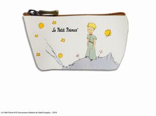 """Porte-monnaie zippé """"Le Petit Prince sur sa planète"""" - Référence 419PL"""