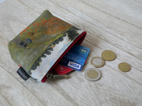 """Maison Martin par Royal Tapisserie porte-monnaie zippé """"Les Coquelicots"""" de Claude Monet (référence 419M2)"""