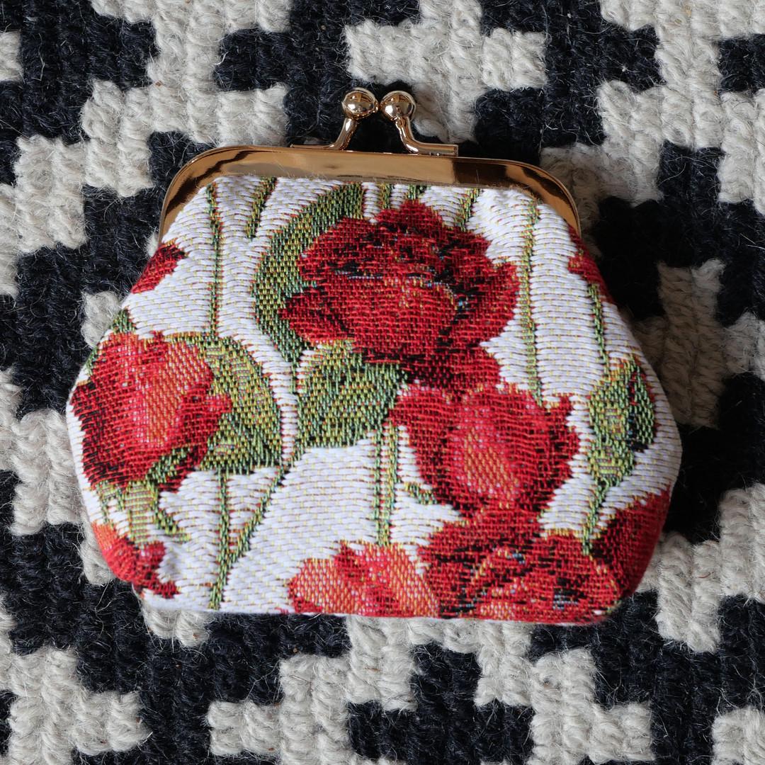 """Porte-monnaie rétro de la collection """"Roses Rouges"""" (ref 402.66) Royal Tapisserie / coin purse tapestry"""