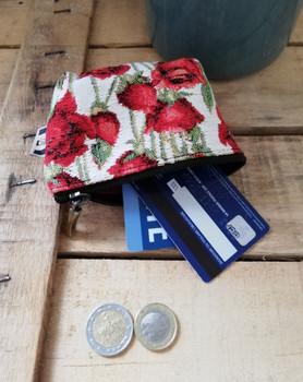 """Porte-monnaie de la collection """"Roses Rouges"""" (ref 419.66) Royal Tapisserie / coin purse tapestry"""