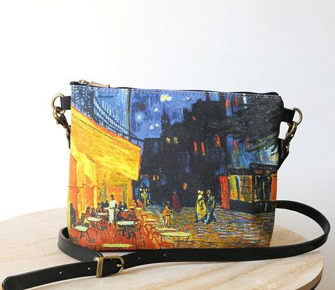 8972V1 sac bandoulière Terrasse du café le soir de Van Gogh