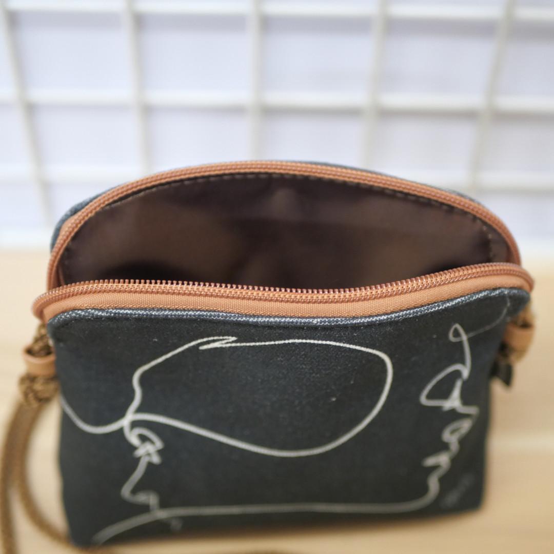 """Quibe Petit sac cordon """"Presque Noir"""" Référence 8971PN"""