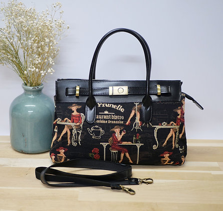 royal tapisserie handbag in tapestry black cocktail paris tapestries royal tapisserie handbag made in france gift from france