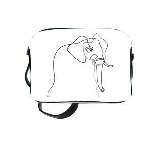 """Sac bandoulière Quibe """"Eléphant"""" fond blanc   Référence 8901EB"""