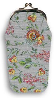 """Etui à lunettes rétro """"Broché de la Reine Marie-Antoinette - Référence Royal Tapisserie 405"""