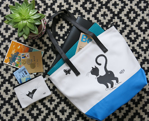 sac chat noir sac chat de dubout sac shopping chat dubout sac à main dubout sac chat debout boutique cadeau de noel bruxelles