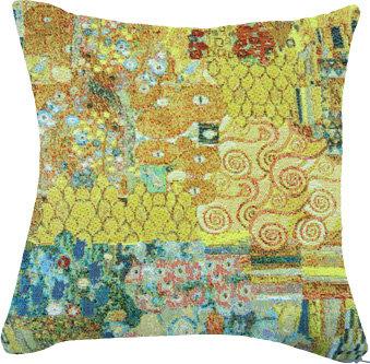 coussin tapisserie le baiser de gustav klimt tissu jacquard royal tapisserie tapestry cushion the kiss gustav klimt