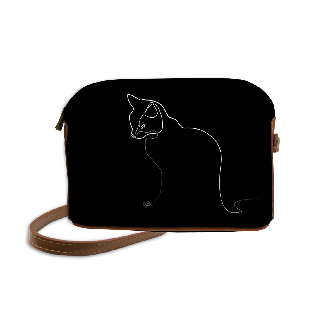 """Sac Quibe dessin """"Chat noir"""" - Maison Martin par Royal Tapisserie"""