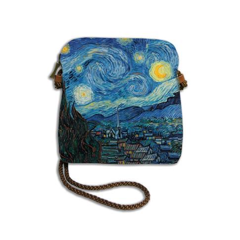 """Petit sac cordon """"Nuit Etoilée"""" Van Gogh - Référence 8971V6"""