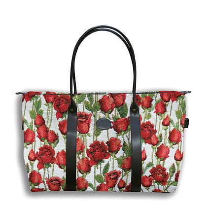 bagage royal tapisserie fabriqué en France en tissu jacquard coussin trousse pochette made in france