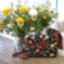 Sac trotter Royal Tapisserie Fleurs de Prunier tapestry bag coussin cushion trousse pochette pencil case pouch royale tapisserie