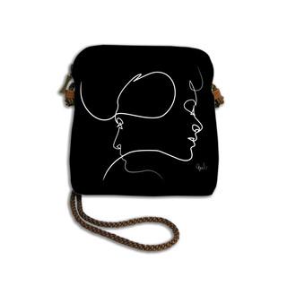 """Petit sac cordon Quibe """"Presque"""" fond noir  Référence 8971PN"""