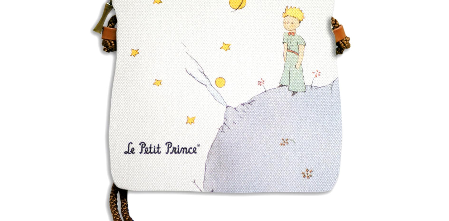 """Petit sac cordon """"Le Petit Prince sur sa planète"""" (ref 8971PL)"""