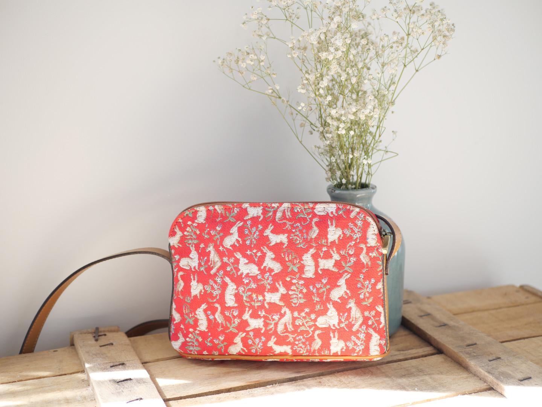 """Sac bandoulière de la collection """"Mille Fleurs"""" (ref 8901.64) Royal Tapisserie / Shoulder bag tapestry"""