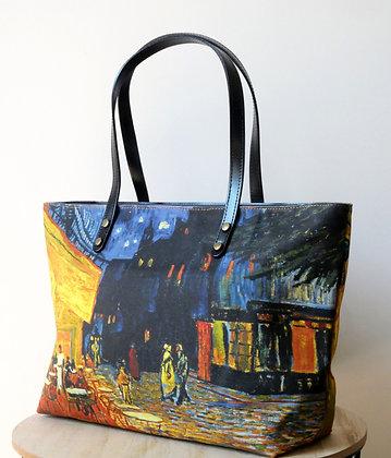 8975V1 sac shopping Terrasse du café le soir de Van Gogh