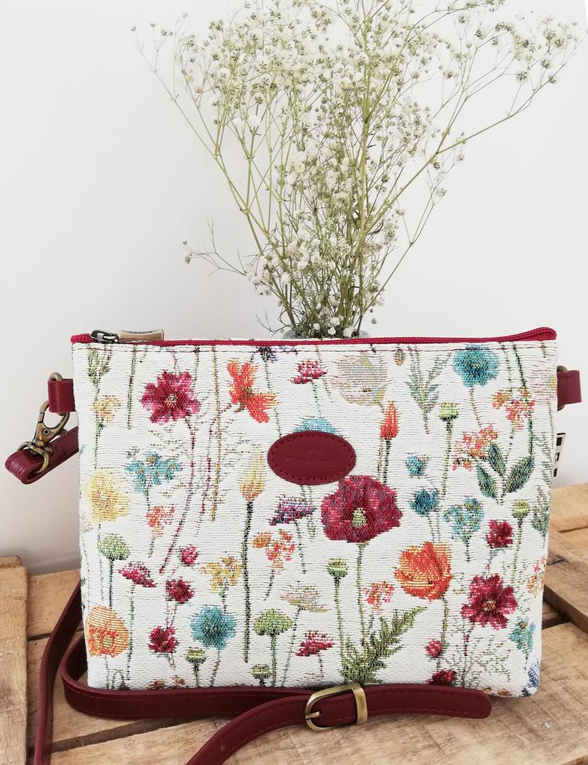 """Sac bandoulière de la collection """"Fleurs des Champs"""" (ref 8972.74) Royal Tapisserie / Shoulder bag tapestry"""