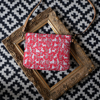 """Sac bandoulière de la collection """"Mille Fleurs"""" (ref 8972.64) Royal Tapisserie / Shoulder bag tapestry"""