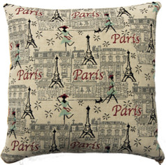 """Coussin """"Balade à Paris"""" - Royal Tapisserie cushion tapestry"""