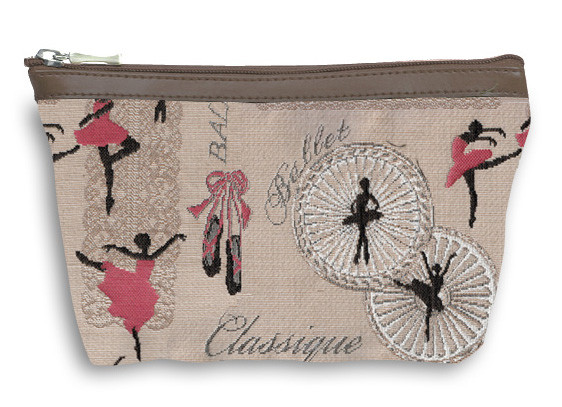 "Grande trousse à maquillage de la collection "" Ballerines "" - Référence 8917.57 Royal Tapisserie"