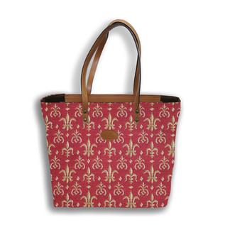"""Sac shopping de la collection """"Fleurs de Lys ROUGE"""" - Référence 8976.83 Royal Tapisserie"""