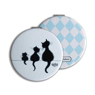 """Miroir de poche """"Sur le mur"""" 5311 Les Chats de Dubout"""