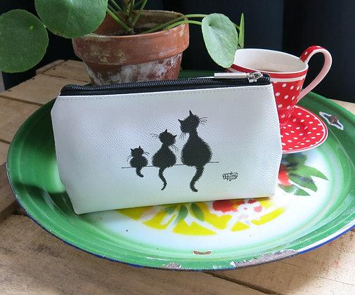 Les chats de dubout pochette trousse sac main porte-monnaie etui lunettes gros dodo trio pencil case bag handbag glasses cats