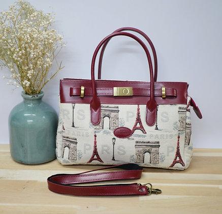 royal tapisserie handbag in tapestry eiffel tower paris tapestries royal tapisserie handbag made in france gift from france