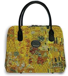 sac tapisserie Gustav Klimt Royal Tapisserie sac à main coussin tapisserie murale fabriqué en france royale gustav klimt france le baiser The kiss tapestry made in France handbag cushion paris