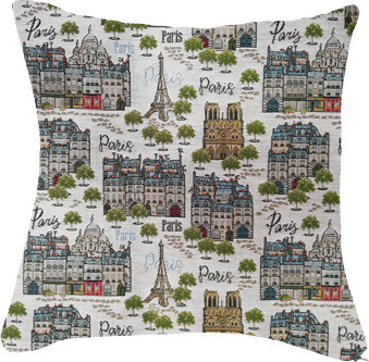 """Coussin """"Paname"""" - Royal Tapisserie cushion tapestry"""