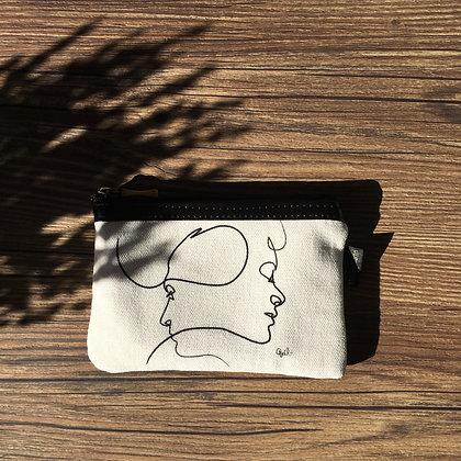431PB Pochette plate Presque Blanc de Quibe