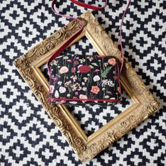 """Sac bandoulière de la collection """"Des Fleurs en Hiver"""" (ref 8901.76) Royal Tapisserie / Shoulder bag tapestry"""