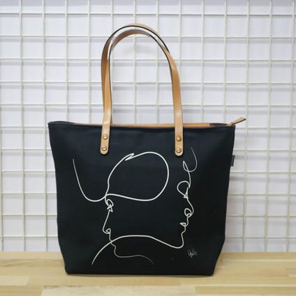 "Sac shopping QUIBE ""Presque Noir"" Référence 8976PN"