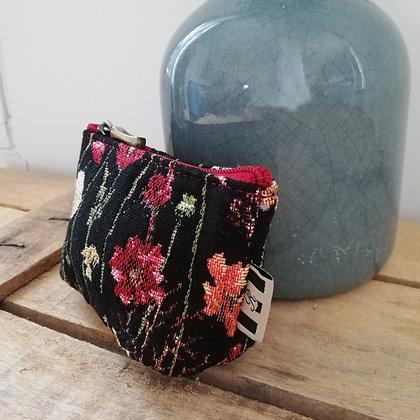 Sac à main Fleurs hiver Royal Tapisserie pochette trousse coussin handbag tapestry cushion pencil case coins purse flower