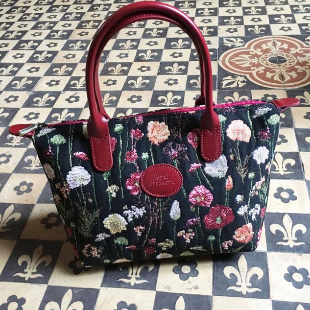 "Sac à main motif ""Des Fleurs en Hiver"" (ref 8945.76) Royal Tapisserie / Handbag tapestry"