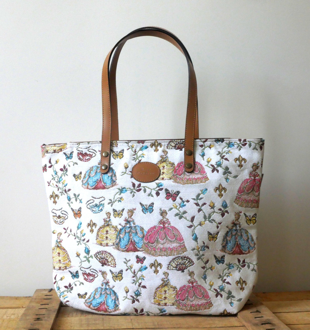 "Sac shopping de la collection ""Bal paré"" (ref 8976.78) Royal Tapisserie / Shopping bag tapestry"