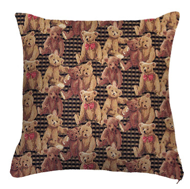 """Coussin """" Ours brun """"  - Royal Tapisserie cushion tapestry Bears"""