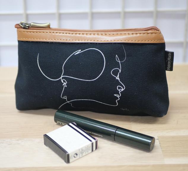 """Trousse à maquillage QUIBE """"Presque Noir"""" Référence 8850PN"""